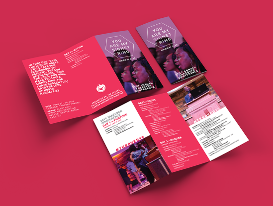 takeover trifold brochure